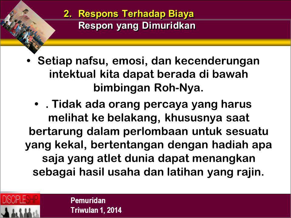 2. Respons Terhadap Biaya Respon yang Dimuridkan