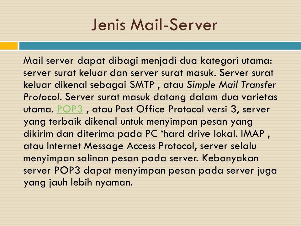 Jenis Mail-Server