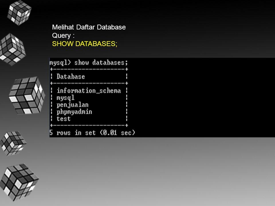 Melihat Daftar Database