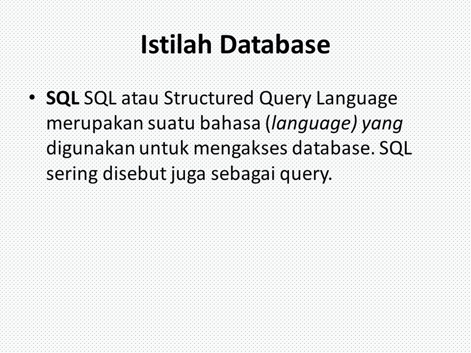 Istilah Database