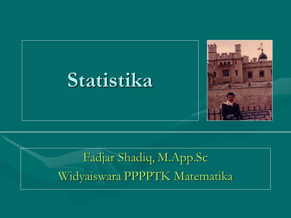 Fadjar Shadiq, M.App.Sc Widyaiswara PPPPTK Matematika
