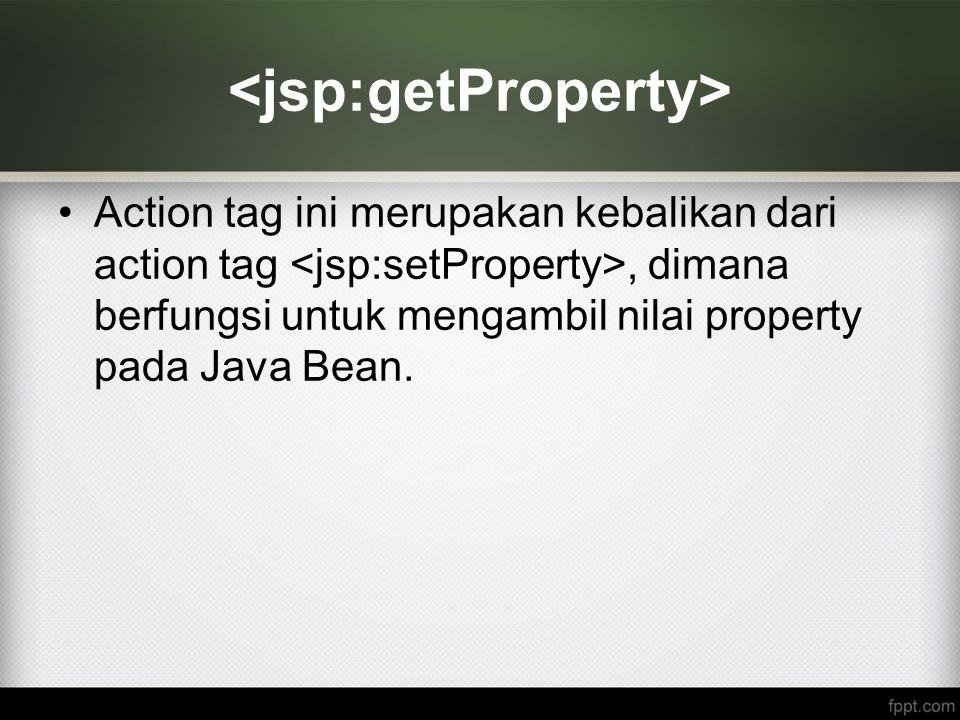 <jsp:getProperty>