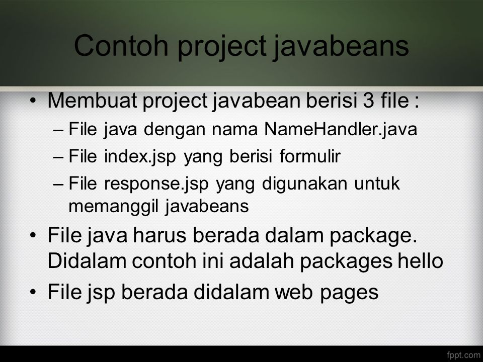 Contoh project javabeans