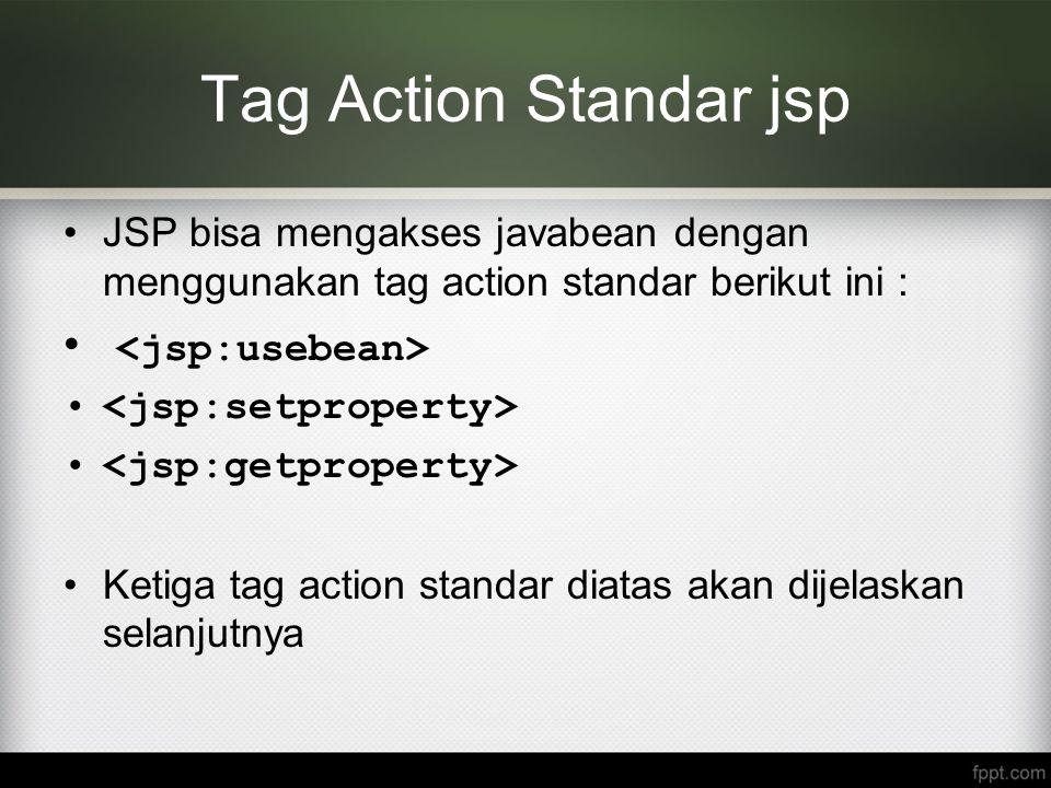 Tag Action Standar jsp <jsp:usebean>