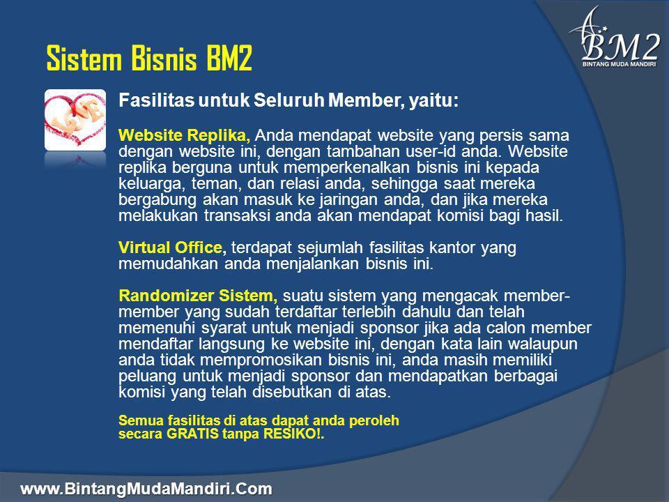 Sistem Bisnis BM2 Fasilitas untuk Seluruh Member, yaitu: