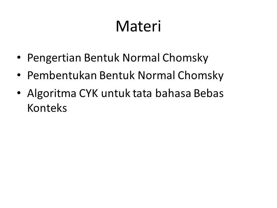 Materi Pengertian Bentuk Normal Chomsky