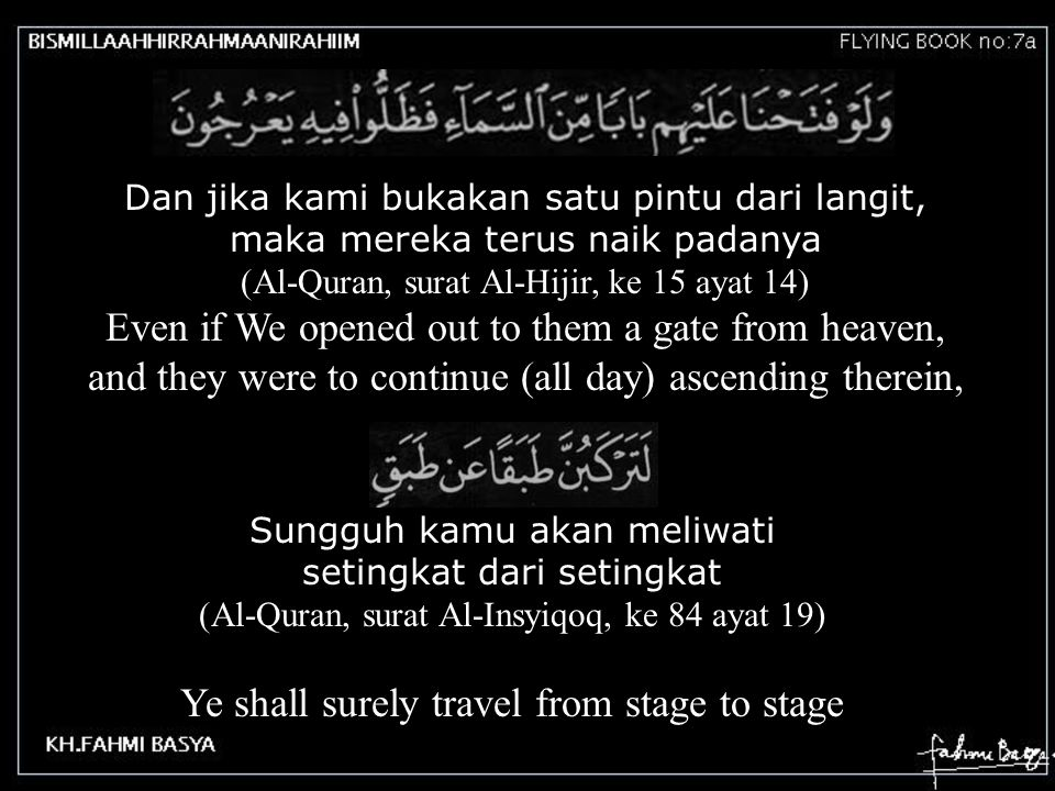 Ye shall surely travel from stage to stage