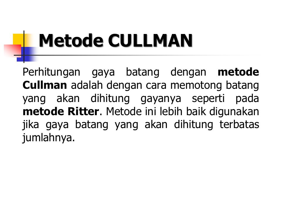 Metode CULLMAN
