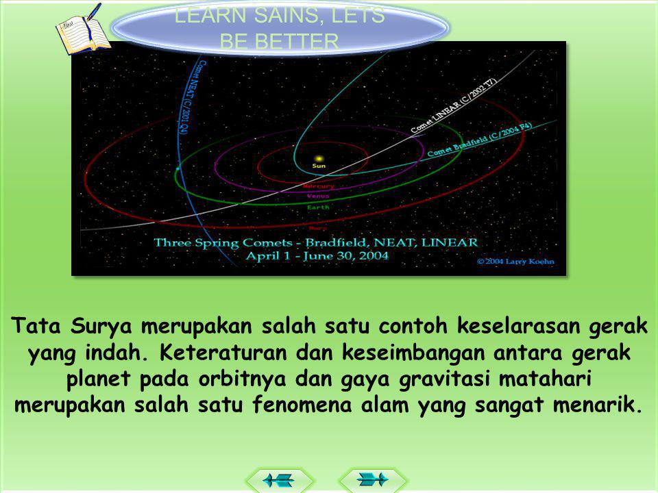 MENGENAL TATA SURYA Home LEARN SAINS, LETS BE BETTER