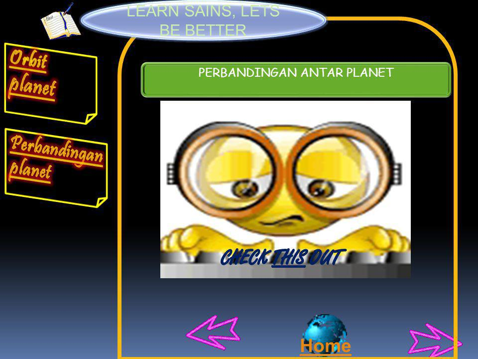 Orbit planet Perbandingan planet CHECK THIS OUT Home