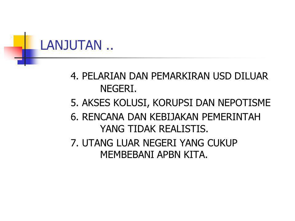 4. PELARIAN DAN PEMARKIRAN USD DILUAR NEGERI.