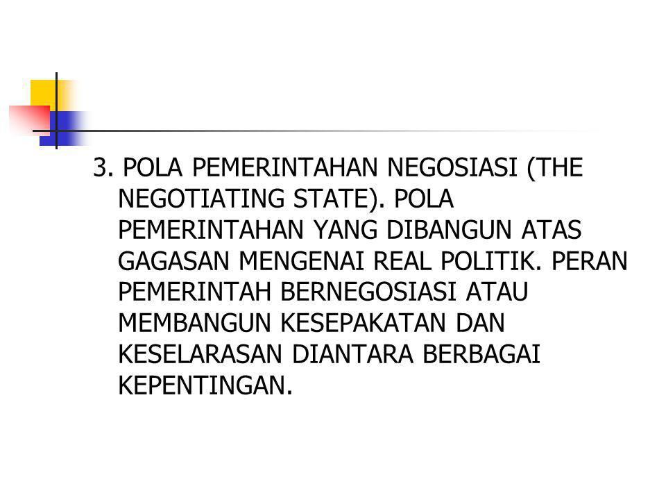 3. POLA PEMERINTAHAN NEGOSIASI (THE NEGOTIATING STATE)