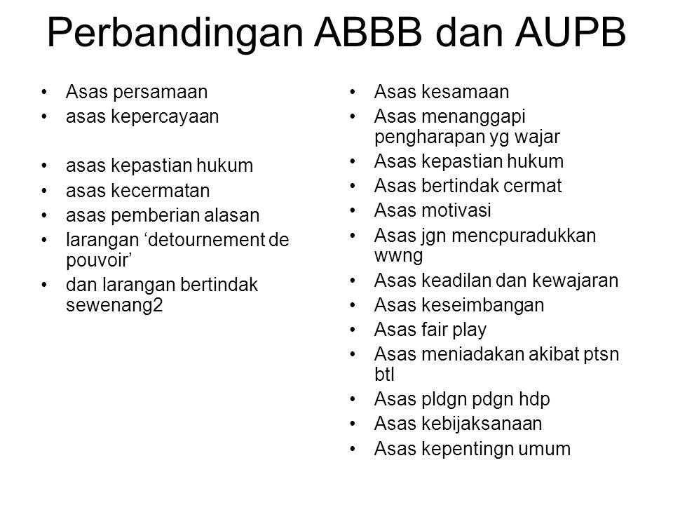 Perbandingan ABBB dan AUPB