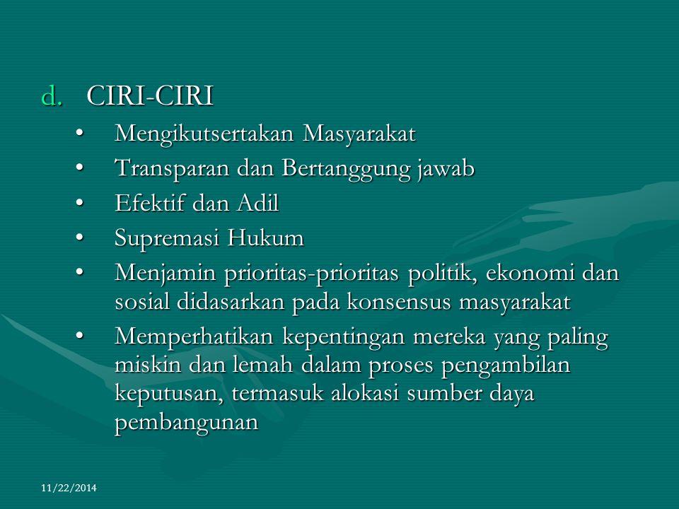 CIRI-CIRI Mengikutsertakan Masyarakat Transparan dan Bertanggung jawab