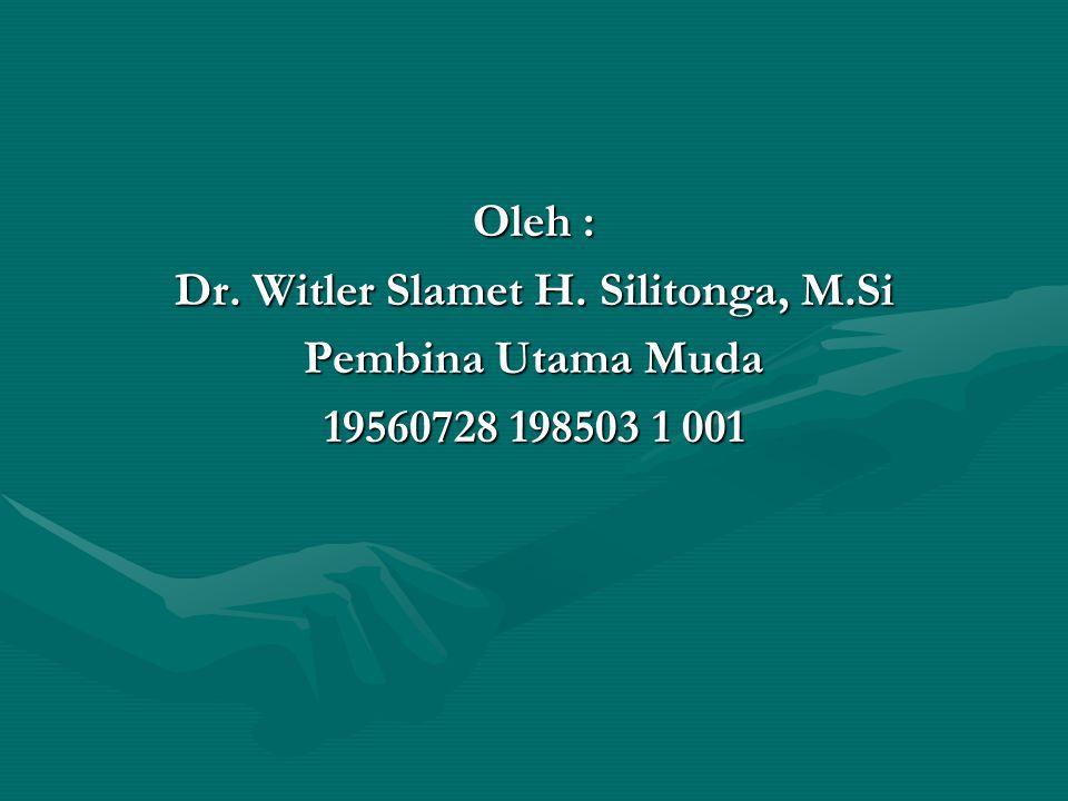 Dr. Witler Slamet H. Silitonga, M.Si