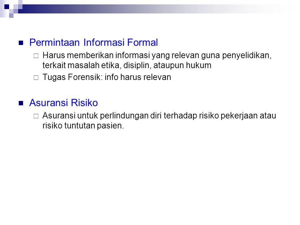 Permintaan Informasi Formal
