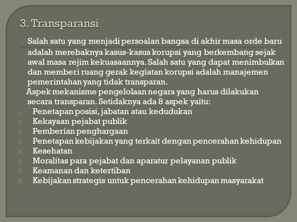 3. Transparansi