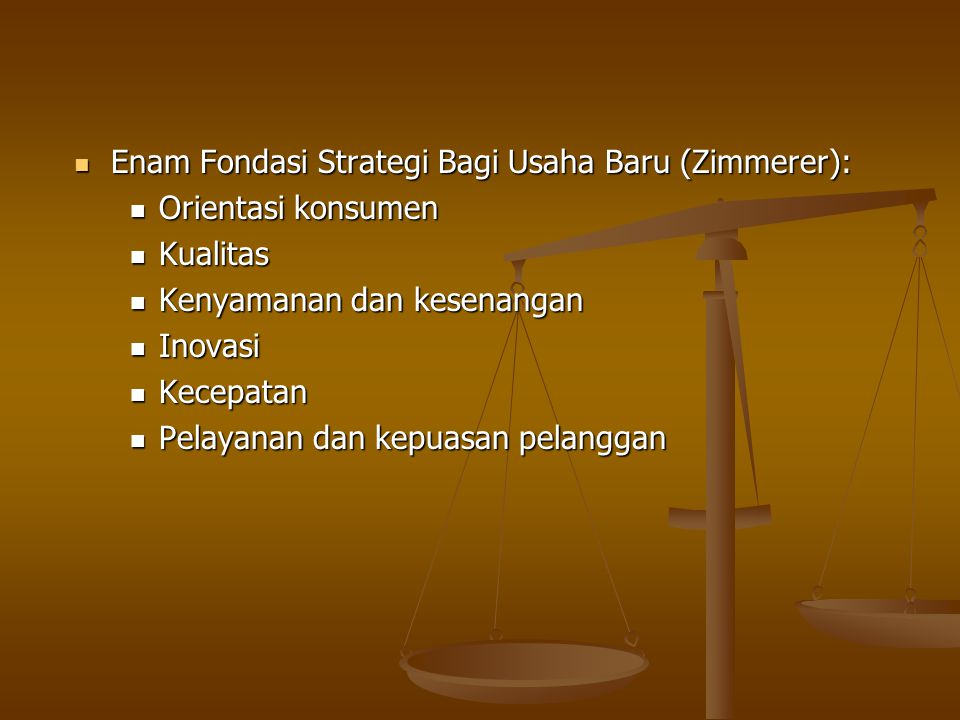 Enam Fondasi Strategi Bagi Usaha Baru (Zimmerer):