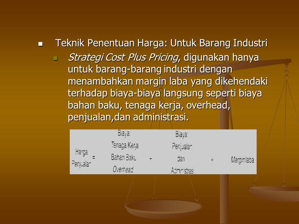 Teknik Penentuan Harga: Untuk Barang Industri