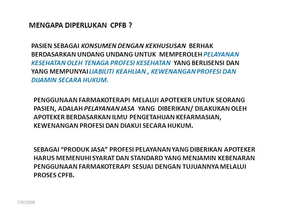 MENGAPA DIPERLUKAN CPFB