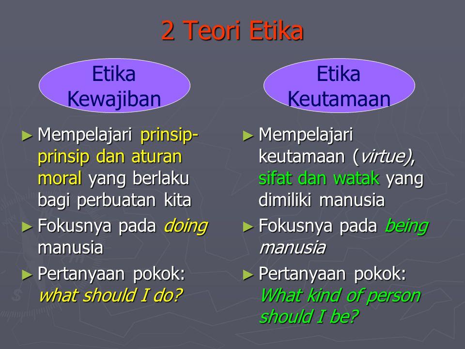 2 Teori Etika Etika Kewajiban Etika Keutamaan