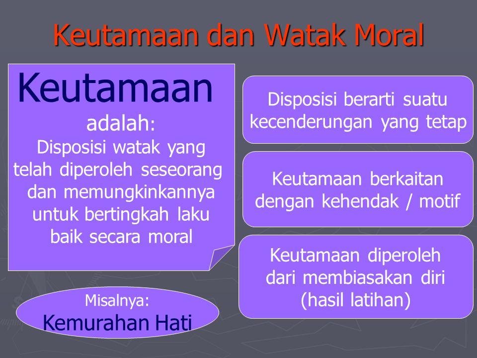 Keutamaan dan Watak Moral