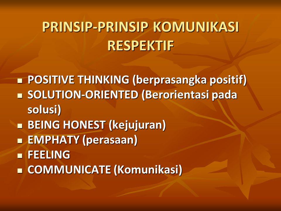 PRINSIP-PRINSIP KOMUNIKASI RESPEKTIF