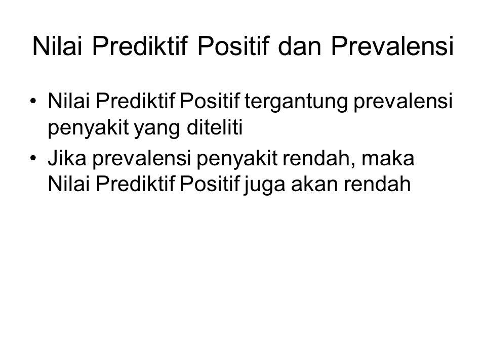Nilai Prediktif Positif dan Prevalensi