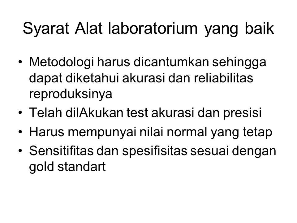 Syarat Alat laboratorium yang baik