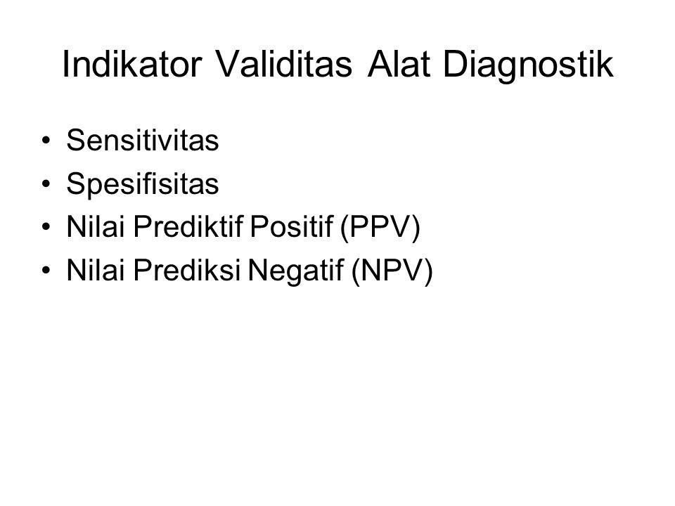 Indikator Validitas Alat Diagnostik