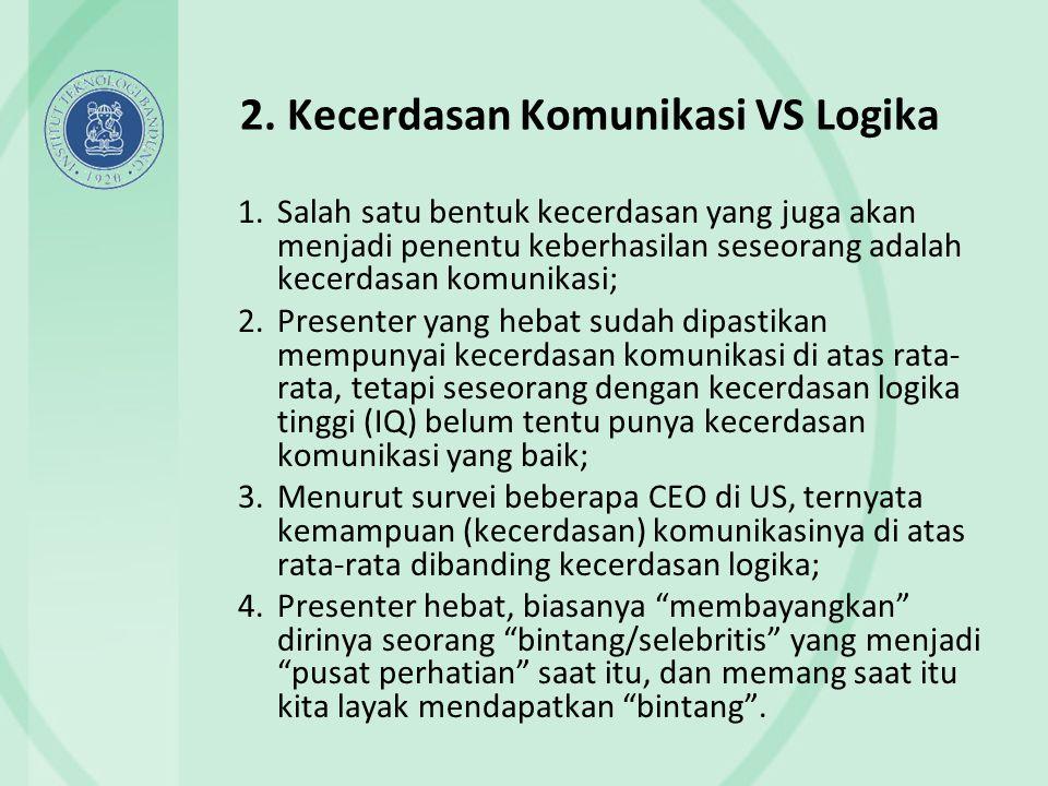 2. Kecerdasan Komunikasi VS Logika
