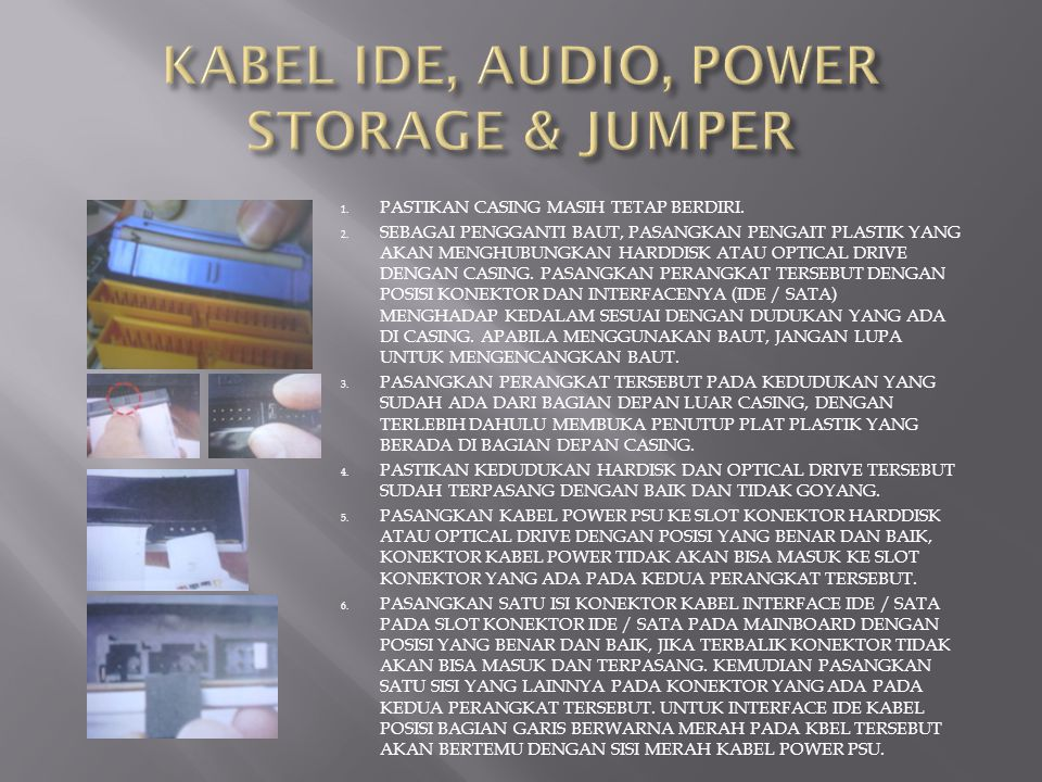 KABEL IDE, AUDIO, POWER STORAGE & JUMPER