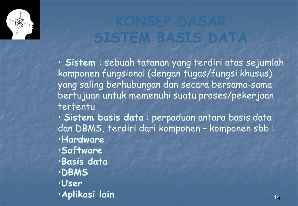 KONSEP DASAR SISTEM BASIS DATA