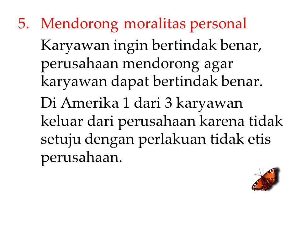 Mendorong moralitas personal