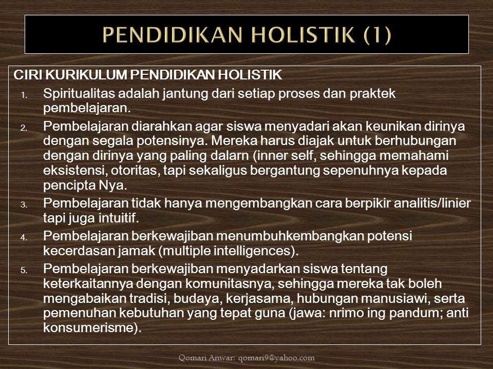 PENDIDIKAN HOLISTIK (1)