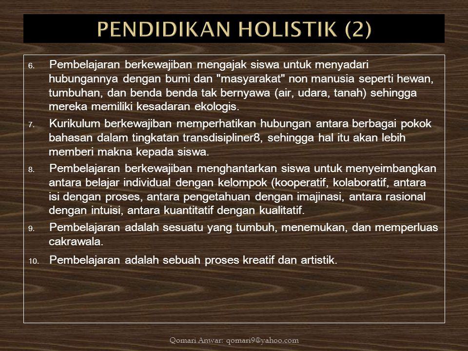 PENDIDIKAN HOLISTIK (2)