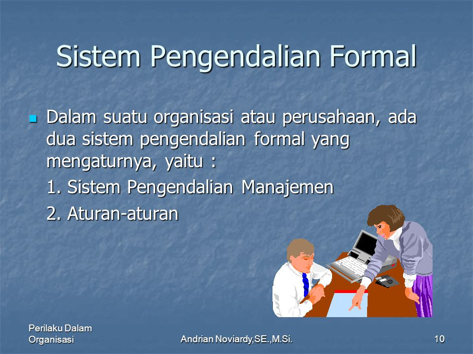 Sistem Pengendalian Formal