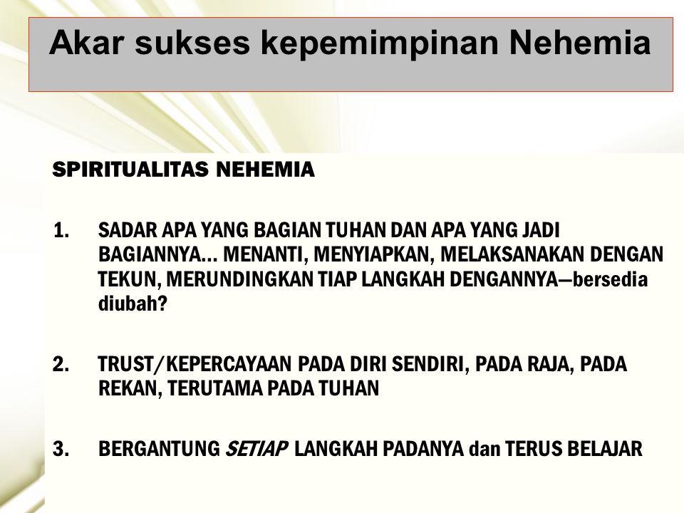 Akar sukses kepemimpinan Nehemia