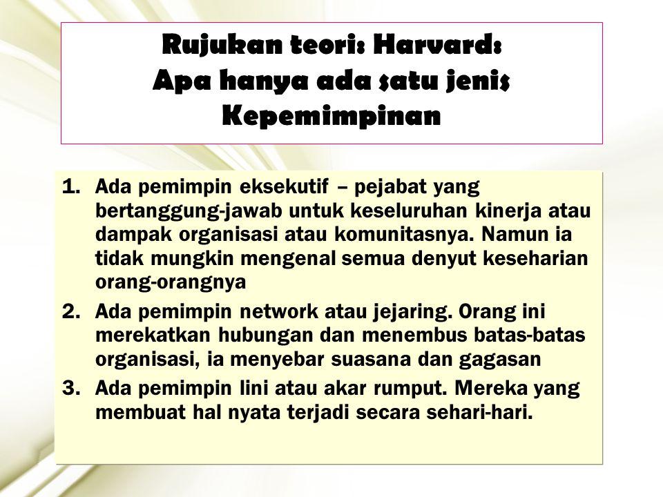 Rujukan teori: Harvard: Apa hanya ada satu jenis Kepemimpinan