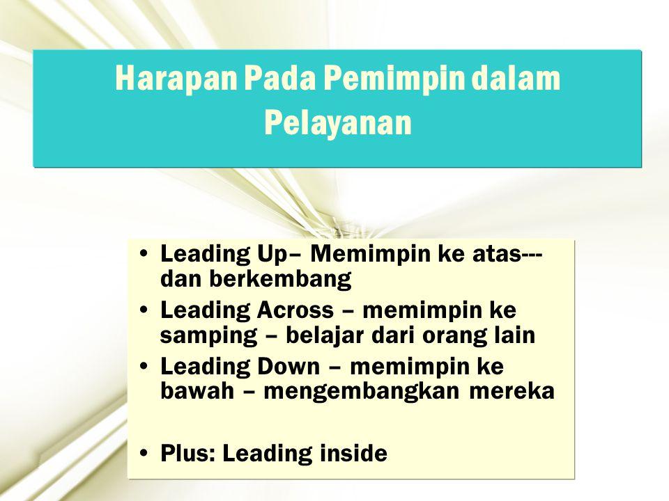 Harapan Pada Pemimpin dalam Pelayanan