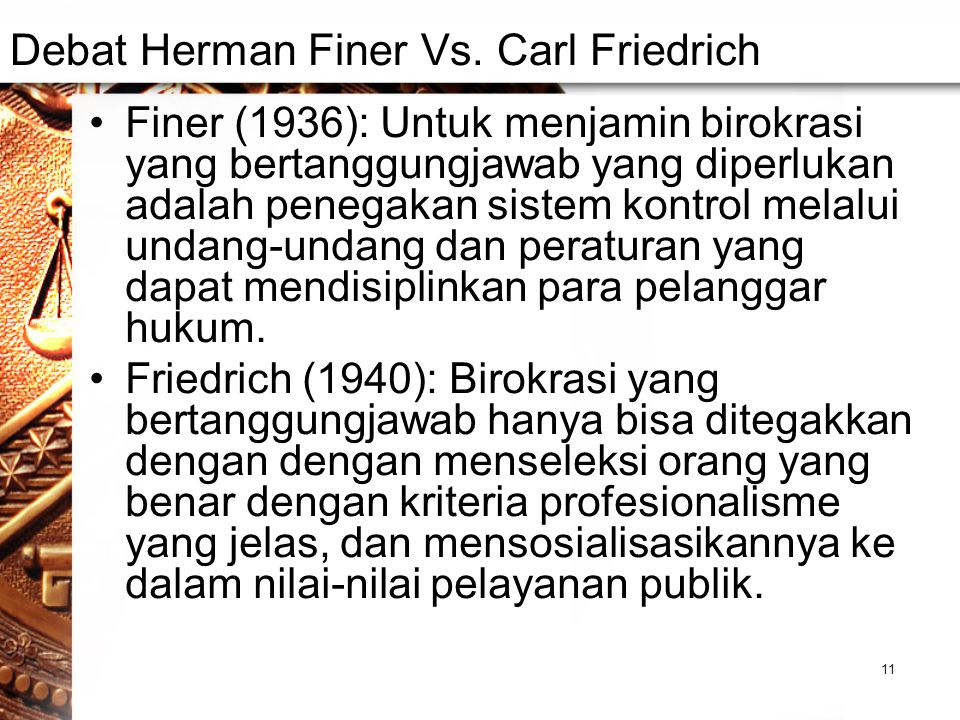 Debat Herman Finer Vs. Carl Friedrich