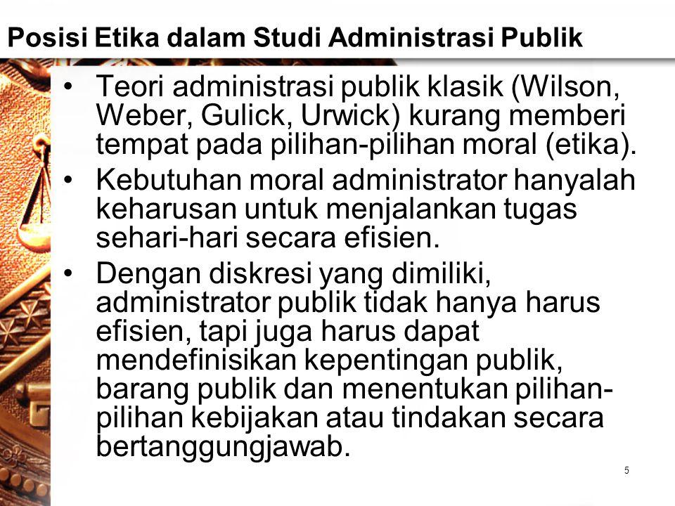 Posisi Etika dalam Studi Administrasi Publik
