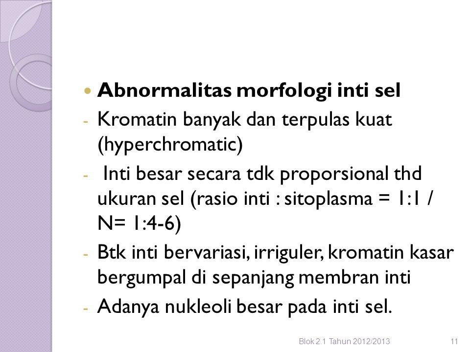 Abnormalitas morfologi inti sel
