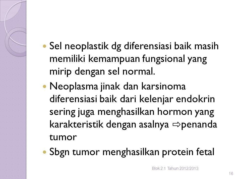 Sbgn tumor menghasilkan protein fetal