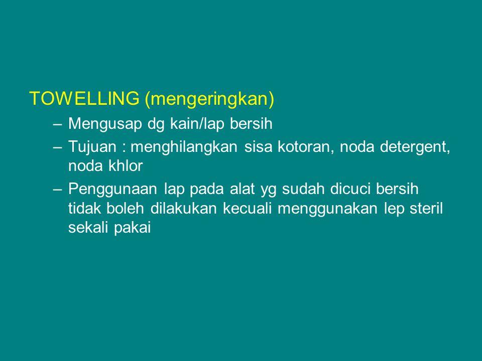 TOWELLING (mengeringkan)