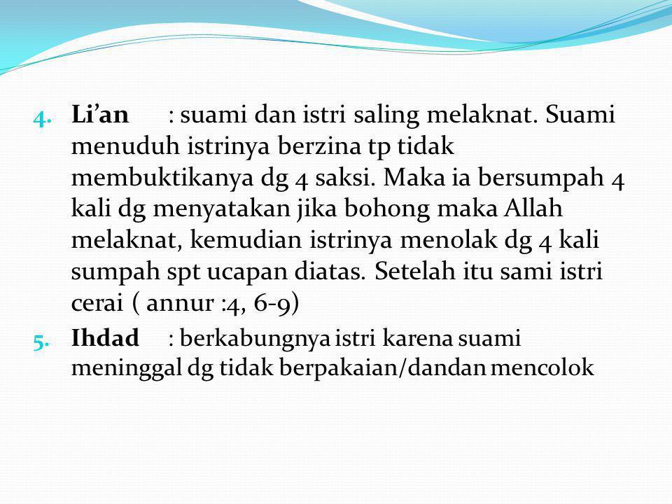 Li'an. : suami dan istri saling melaknat