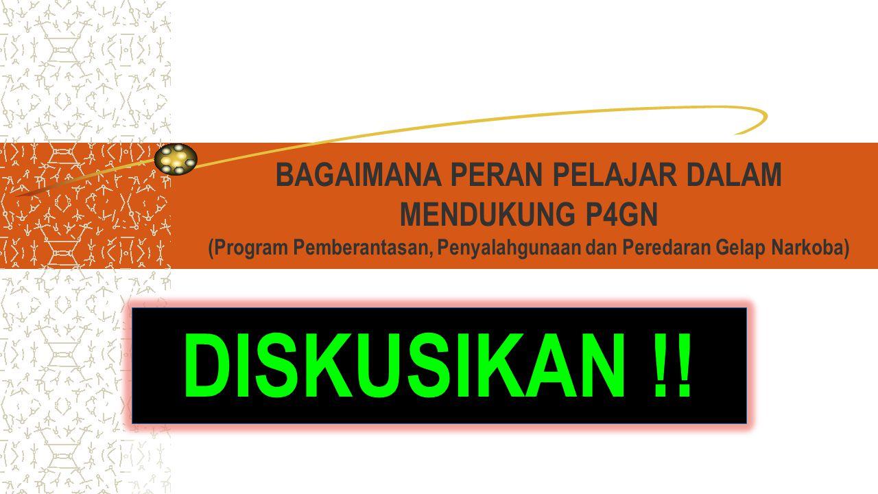 BAGAIMANA PERAN PELAJAR DALAM MENDUKUNG P4GN (Program Pemberantasan, Penyalahgunaan dan Peredaran Gelap Narkoba)