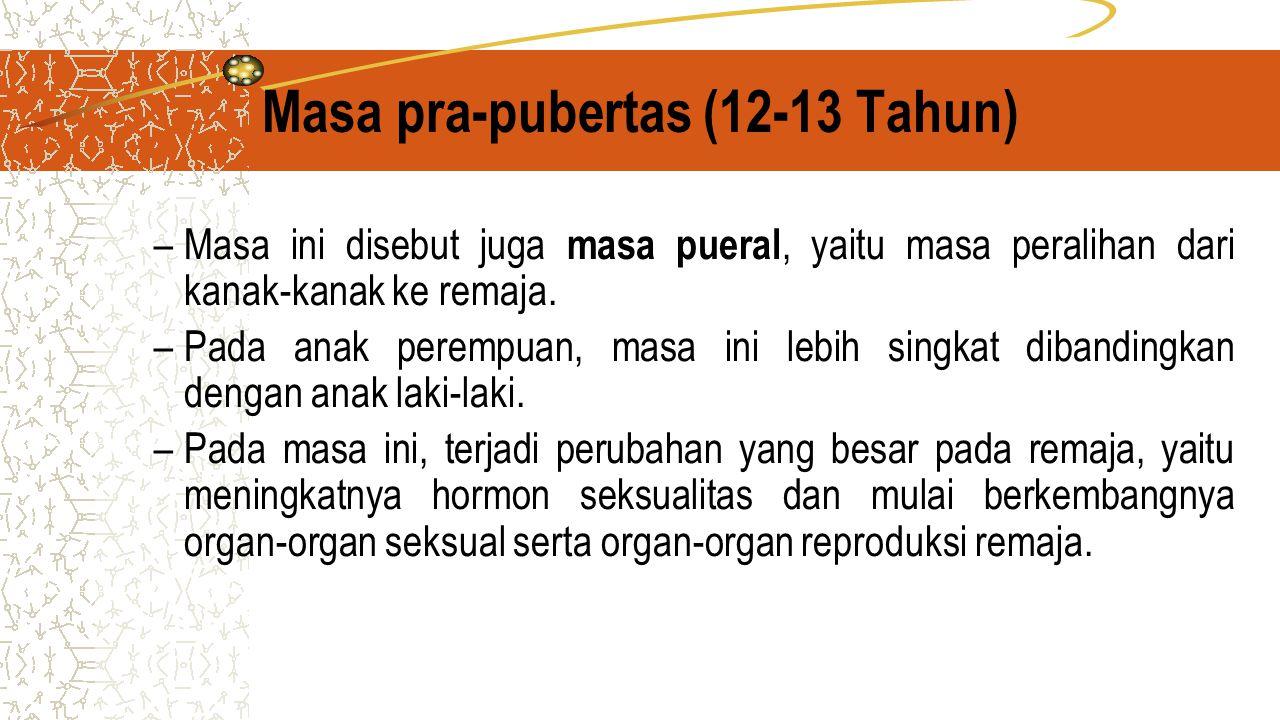 Masa pra-pubertas (12-13 Tahun)