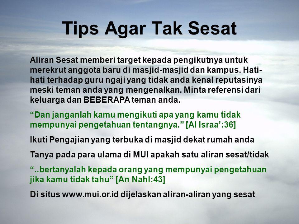 Tips Agar Tak Sesat
