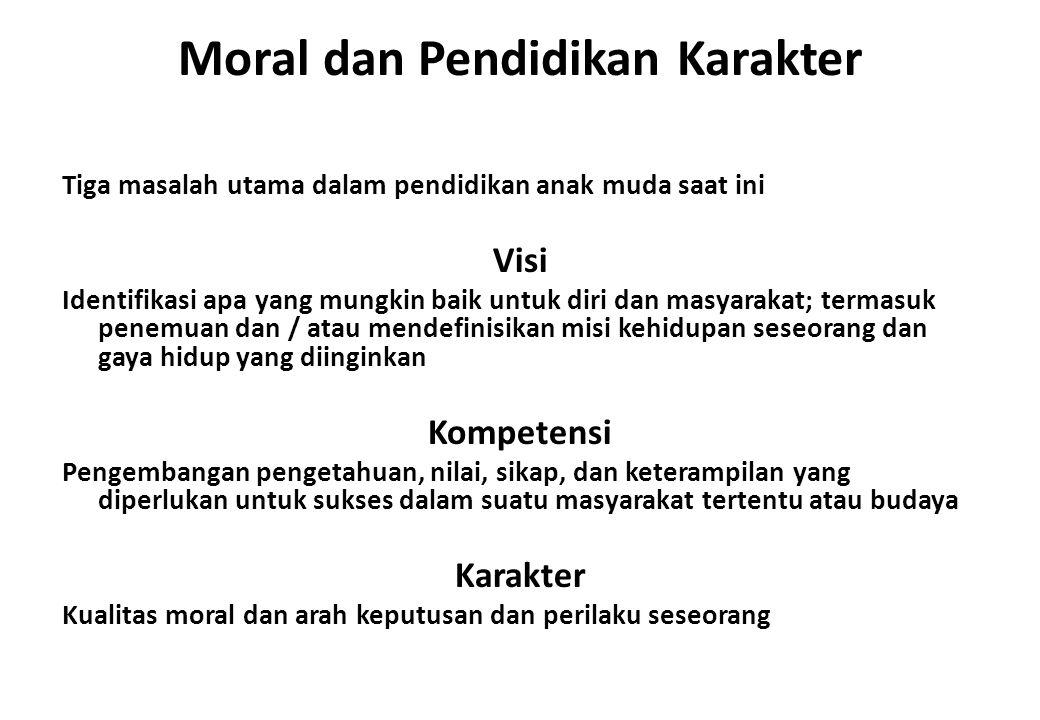 Moral dan Pendidikan Karakter